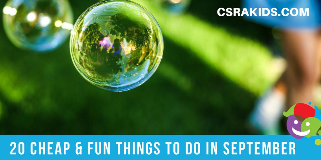 20 Cheap & Fun Ideas for September