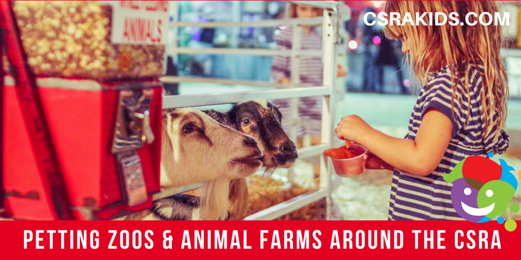 Petting Zoos and Animal Farms Around the CSRA