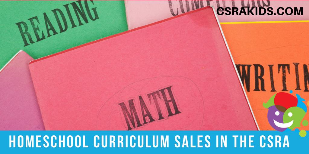 Homeschool Curriculum Sales in the CSRA