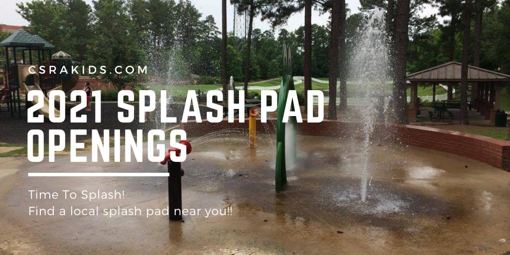 splash pad openings