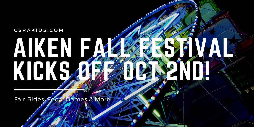 Aiken Fall Festival Kicks Off October 2nd